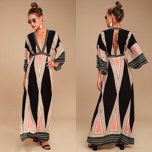Lulu's | Montecito Printed Maxi Dress